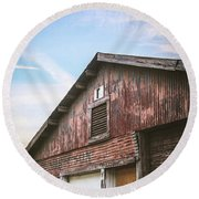 Round Beach Towel featuring the photograph Once Industrial - Series 1 by Trish Mistric