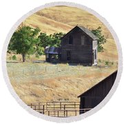 Once Upon A Homestead Round Beach Towel