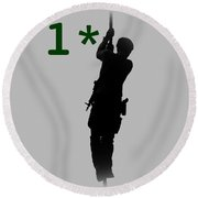 Round Beach Towel featuring the photograph One Asterisk by David Morefield