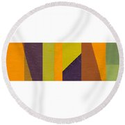 Round Beach Towel featuring the painting One By Three by Michelle Calkins