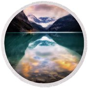 One Colorful Moment  Round Beach Towel