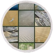 One Day At The Beach Ll Round Beach Towel
