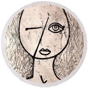 One Eye Round Beach Towel