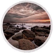Round Beach Towel featuring the photograph One Final Moment by Jorge Maia
