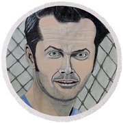 One Flew Over The Cuckoo's Nest. Round Beach Towel by Ken Zabel