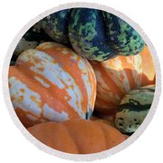 One Good Gourd Deserves Another Round Beach Towel by Patricia E Sundik