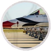 One Jet Or Seven Round Beach Towel