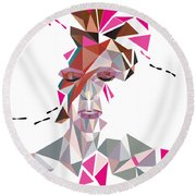 One May Become Stardust Round Beach Towel