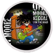 One Moore Reggae Round Beach Towel