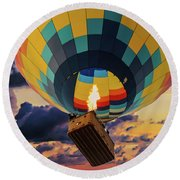 One Morning In Napa Valley Round Beach Towel