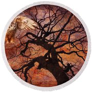 One Of These Nights 2015 Round Beach Towel