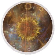 One Ring To Rule Them All Round Beach Towel by John Robert Beck