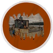 Round Beach Towel featuring the photograph One Salty Dog by Thom Zehrfeld