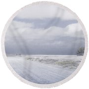 One Round Beach Towel by Silvia Bruno