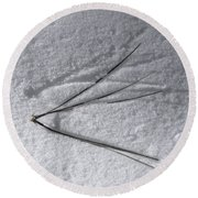 One Small Leap Round Beach Towel