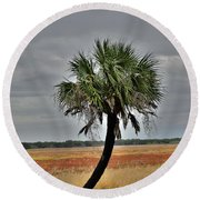 One Stands Alone Round Beach Towel