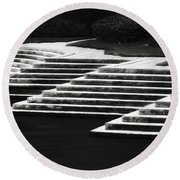 Round Beach Towel featuring the photograph One Step At A Time by Eduard Moldoveanu