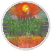 One Sunny Day Round Beach Towel by Angela L Walker