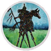 One Warrior Round Beach Towel