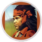 One Who Soars With The Hawk Round Beach Towel