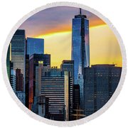 One World Trade Center Round Beach Towel