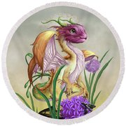 Onion Dragon Round Beach Towel by Stanley Morrison