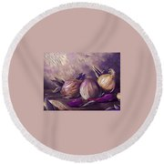 Onions And Peppers Digital Round Beach Towel