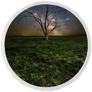Round Beach Towel featuring the photograph Only by Aaron J Groen