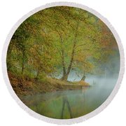 Round Beach Towel featuring the photograph Only If I Go by Iris Greenwell