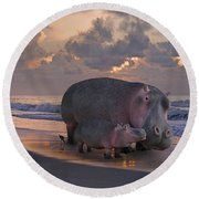 Only On Topsail The Best Kept Secret Round Beach Towel by Betsy Knapp