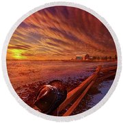 Round Beach Towel featuring the photograph Only This Moment In Between Before And After by Phil Koch