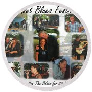 Onset Celebrates 25 Years Of Blues Round Beach Towel