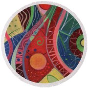 Onward Upward Round Beach Towel
