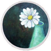 Oopsy Daisy Round Beach Towel by T Fry-Green