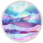 Opal Mountains Round Beach Towel