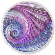 Opal Nautilus Round Beach Towel by Susan Maxwell Schmidt