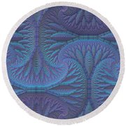 Opalescence Round Beach Towel by Lyle Hatch