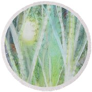 Opalescent Twilight I Round Beach Towel