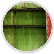 Round Beach Towel featuring the photograph Open Door by Mike Eingle