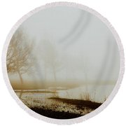 Round Beach Towel featuring the photograph Open Space by Iris Greenwell