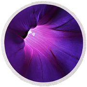 Opening One's Heart Round Beach Towel by Sherry Hallemeier