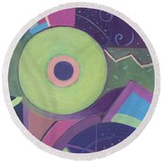 Openly Green Round Beach Towel