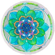 Openness Round Beach Towel