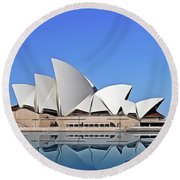 Opera House Round Beach Towel