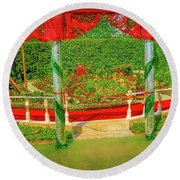 Round Beach Towel featuring the photograph Opera.  by Leif Sohlman