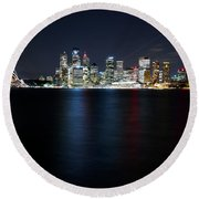 Harbour Streak Round Beach Towel
