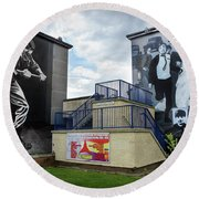 Operation Motorman Mural In Derry Round Beach Towel by RicardMN Photography
