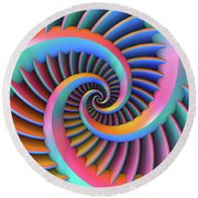 Opposing Spirals Round Beach Towel