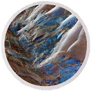 Gemstone Gorge Round Beach Towel