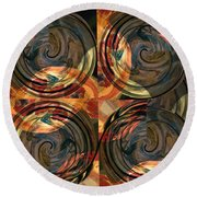 Optical Abstraction Round Beach Towel by Liz Alderdice
